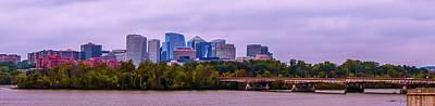 Photograph - Rosslyn Arlington Financial District City Skyline by Alex Grichenko