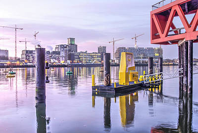 Photograph - Rotterdam Harbour At Sunrise by Frans Blok