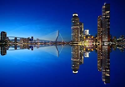 Photograph - Rotterdam skyline architecture Netherlands city by Fine Art Gallery