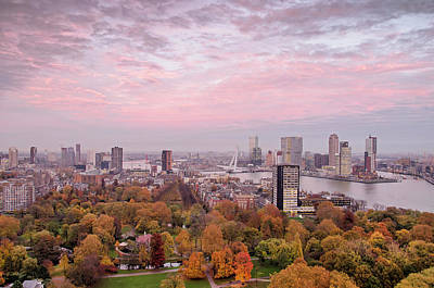 Photograph - Rotterdam, The City, The Sky And The Park by Frans Blok
