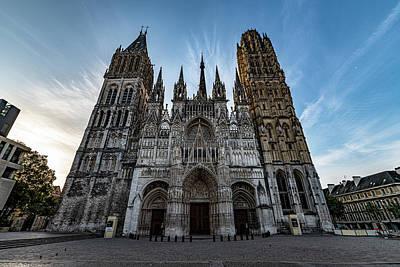 Photograph - Rouen Cathedral by Randy Scherkenbach