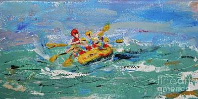 Sports Royalty-Free and Rights-Managed Images - Rough Waters Rafting  by Patty Donoghue