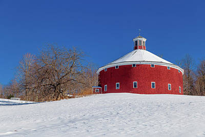 Photograph - Round Barn Apple Tree by Tim Kirchoff