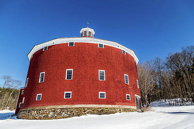 Photograph - Round Barn Closeup by Tim Kirchoff