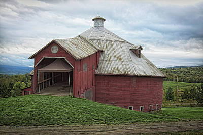 Photograph - Round Barn - Mansonville, Quebec by Tatiana Travelways