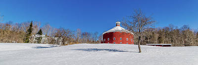 Photograph - Round Barn Winter Wide by Tim Kirchoff