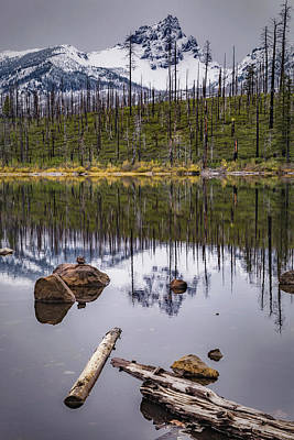Photograph - Round Lake Reflection by Cat Connor