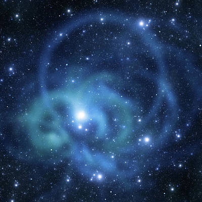 Photograph - Round Space Galaxy by Sololos