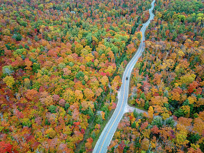 Photograph - Route 42 Aerial by Adam Romanowicz