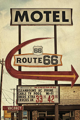 Photograph - Route 66 Motel In Kingman, Arizona by Tatiana Travelways