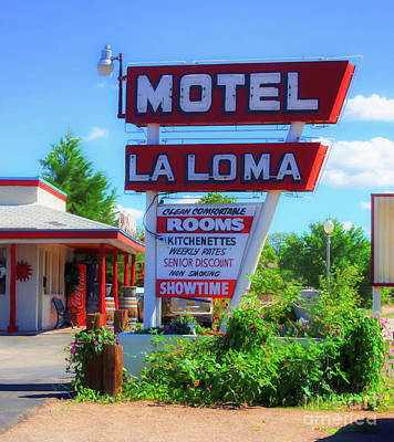 Photograph - Route 66 Motel by Mel Steinhauer