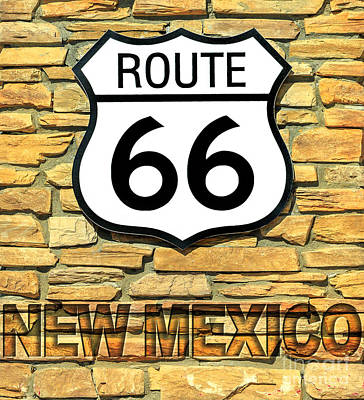 Photograph - Route 66 New Mexico Sign by Benny Marty