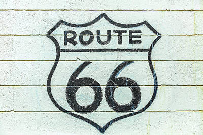 Photograph - Route 66 Sign Background by Benny Marty