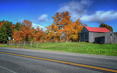 Photograph - Route 9 Autumn by Tom Singleton