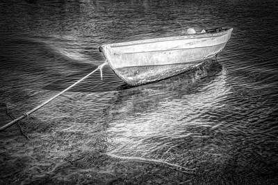 Photograph - Rowboat In Black And White by Debra and Dave Vanderlaan
