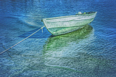 Photograph - Rowboat In Cool Blues by Debra and Dave Vanderlaan