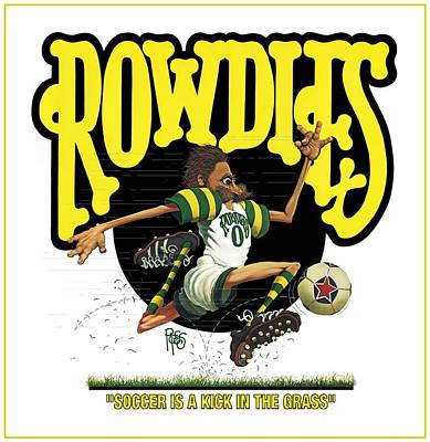 Digital Art - Rowdies Old School by Scott Ross