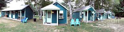 Photograph - Panoramic Photo Of Rowes Adirondack Cabins Schroon Lake New York Soft Effect by Rose Santuci-Sofranko