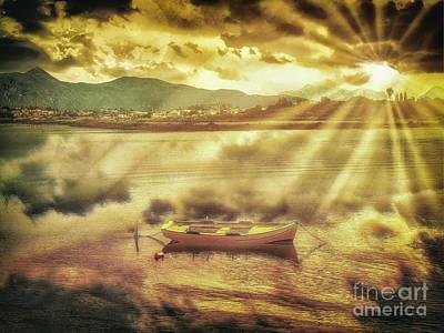 Photograph - Rowing Boat, Corfu by Leigh Kemp