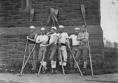Photograph - Rowing Team At Wesleyan University by Bettmann