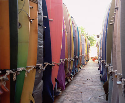 Photograph - Rows Of Surfboards by Jonathan Kantor Studio