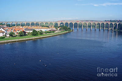 Photograph - Royal Border Bridge At Berwick Upon Tweed by David Birchall