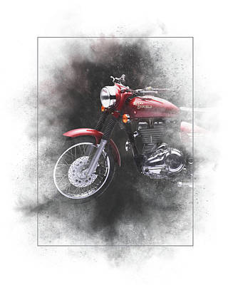 Mixed Media - Royal Enfield Bullet Electra Efi Painting by Smart Aviation