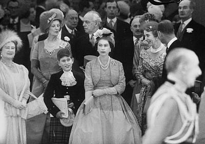 Photograph - Royal Family At Princess Margarets by Loomis Dean