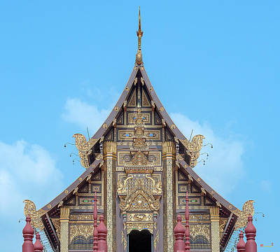 Photograph - Royal Park Rajapruek Grand Pavilion Gable Dthcm2590 by Gerry Gantt