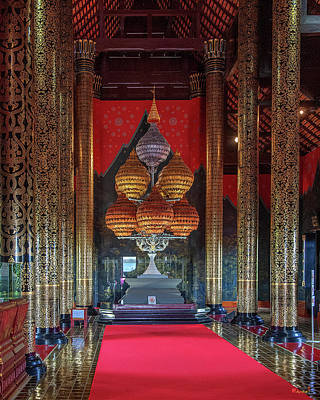 Photograph - Royal Park Rajapruek Grand Pavilion Interior Dthcm2596 by Gerry Gantt
