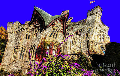 Digital Art - Royal Roads Hatley Castle Twisted by Sue Harper