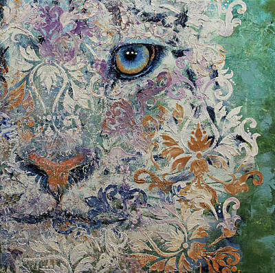 Persian Cat Wall Art - Painting - Royal Snow Leopard by Michael Creese