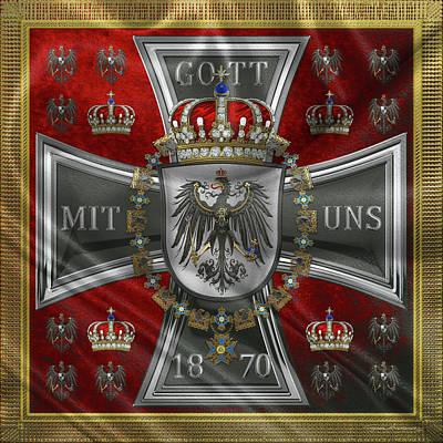 Digital Art - Waving Royal Standard Of The King Of Prussia 1871-1892 by Serge Averbukh