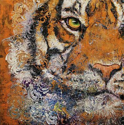 Persian Cat Wall Art - Painting - Royal Tiger by Michael Creese