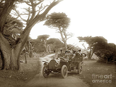 Photograph - Royal Tourist Touring Car Model G3 At Cypress Grove In Pebble Beach Circa 1906 by California Views Archives Mr Pat Hathaway Archives