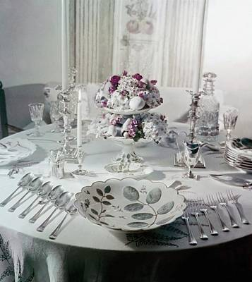 Photograph - Royal Worchester Table Setting by Horst P. Horst