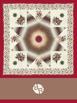 Painting - Rubino Mandala Design Pattern Dark Red by Tony Rubino