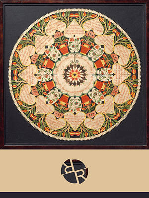 Painting - Rubino Mandala Design Pattern Purple by Tony Rubino