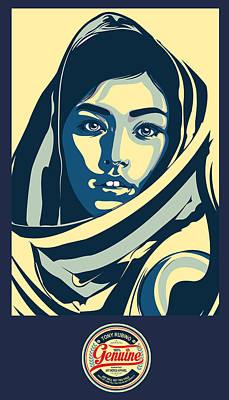 Painting - Rubino Pop Woman Hood by Tony Rubino