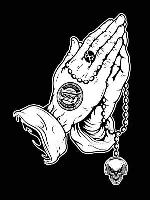 Painting - Rubino Prayer Hands Praying by Tony Rubino