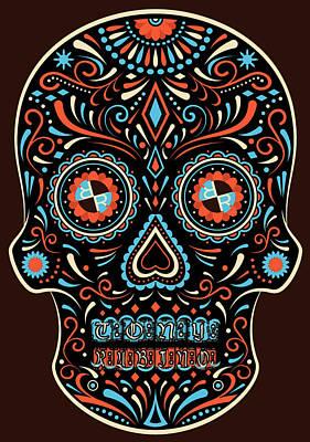 Painting - Rubino Skull Mexico by Tony Rubino