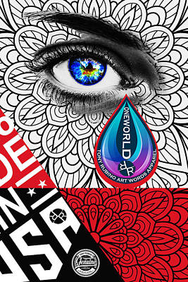 Painting - Rubino Tear Drop by Tony Rubino