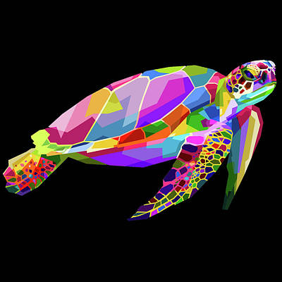 Painting - Rubino Turtle by Tony Rubino