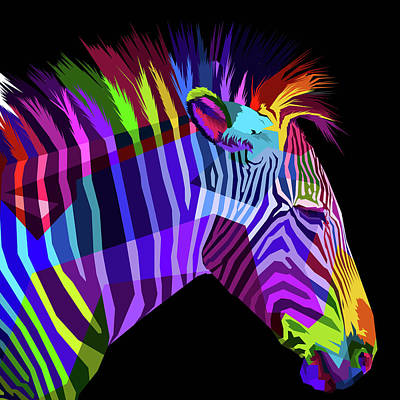 Painting - Rubino Zebras by Tony Rubino