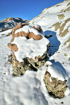 Photograph - Ruby Mountain Boulders In Winter by Ray Mathis