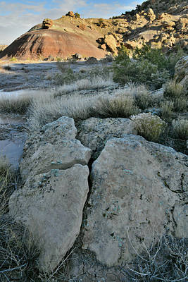 Antique Maps - Ruby Mountain Hills and Boulders by Ray Mathis