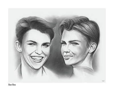 Drawings Rights Managed Images - Ruby Rose Royalty-Free Image by Greg Joens