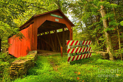 Photograph - Roddy's Mill Covered Bridge by Adam Jewell
