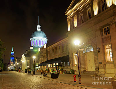 Photograph - Rue Saint Paul In Old Montreal At Night by Louise Heusinkveld