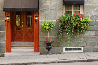 Photograph - Rue St. Louis In Vieux-quebec With by Chris Cheadle